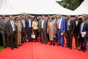 The Kericho Country Leadership takes a photo with the School Management